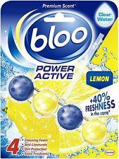 Bloo - Power Active, Lemon - Toilet Rim Block - Box  of  4 packs