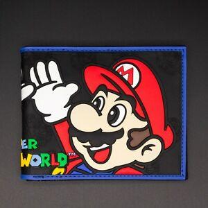 Cute Super Mario Bros Purse Short Bifold Fashion Leather Wallet S2