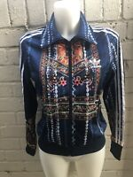 Adidas Women's Originals Track Top Size 12 Floral Ladies Casual Jacket Flowers