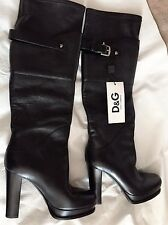 Dolce & Gabbana Women's Black Leather Tall Boot ITA 40 NWT