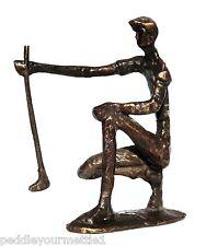 Vintage Golfer Payne Stewart Bronze Sculpture Statue Lining Up Putt Modern EUC
