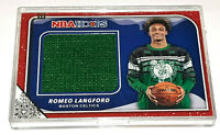 2019-20 NBA Hoops Holiday Romeo Langford Rookie Celtics Sweater Relic Swatch