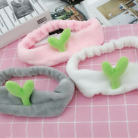 Small Bean Sprouts Cactus Wash Face Hair Holder Hairbands Coral Fleece Headband