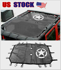 fits Jeep Wrangler JK 4dr Sunshade Top Cover UV Protection Roof Mesh Accessories