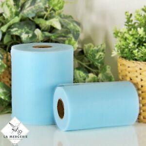 Rouleau Tulle Bleu glacial 15cmx90m qualité supérieure polyester tutu Mariage