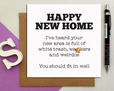 Rude funny New home cards w*nker weird, naughty crude moving house offensive n7