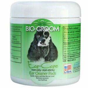 Bio-Groom Ear Cleaner Pads Non-oily Gently Cleans & Dries Pet Ear Canal