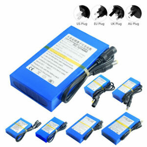 DC 12V Lithium Polymer Battery With Switch Rechargeable 4800-20000mAh +Charger