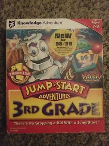 Jump Start Adventures 3rd Grade Mystery Mountain PC CD ROM Big Box Sealed Rare