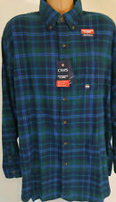 Chaps 2XB Flannel Shirt Mens Big and Tall Long Sleeves Blue Green