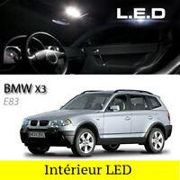 Kit ampoules à LED pour l'éclairage intérieur plafonnier  blanc BMW X3  E83