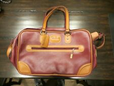 Vintage Pierre Cardin Red or Maroon retro travel bag luggage strap piere maroon