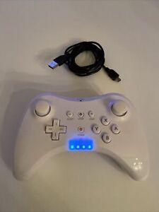 Manette NINTENDO Wii U PRO CONTROLLER Non D'origine - Blanche- Très Bon État