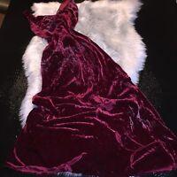 Betsy Johnson New York Black Label Vintage VelvetyFloral Dress Sz M Rare! Cute!