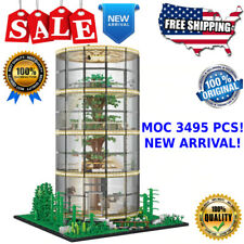 Building Blocks Architecture Sets MOC City Glass Tree House Forest Villa 85016