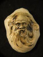 William Ricketts Australian Pottery Head Tribal Aboriginal Elder Plaque Signed