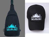 Boys Teens Fortnite rucksack Sport travel shoulder bag Gym Baseball cap hat 6y+