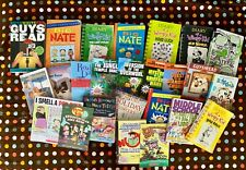 25 Scholastic School Chapter Books Guys Read Diary Wimpy Kid Big Nate Mind Craft