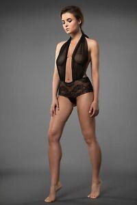 Millesime Crotchless Bodysuit See Through Lace Bodysuit Plus Size Teddy Lingerie