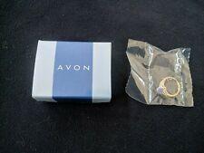 New! Avon STERLING SILVER GENUINE LAVENDER JADE RING Size 7