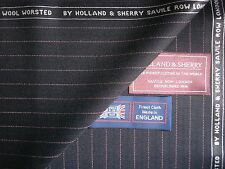 "HOLLAND & SHERRY SUPER 130's WOOL SUITING FABRIC ""TARGET ELITE COLL."" = 3.7** m."