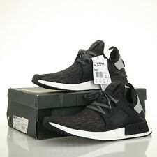 Adidas NMD XR1 S77195 Black/Silver Glitch Primeknit Sneakers - Men's 12.5