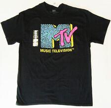 MTV ~ Music Television Large Black T-Shirt  ~ Size L ~ T Shirt