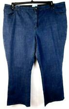 Lb collection blue plus embroidered back pocket chain detail wide leg jeans 28