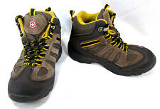 Swiss Gear Kids Hiking Boots Shoes Size 12 Leather Brown & Yellow Rubber Sole