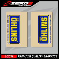 OHLINS UPPER FORK DECALS MOTOCROSS GRAPHICS MX GRAPHICS ENDURO CLEAR