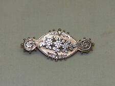 Antique Victorian Sterling Silver 1890 Birmingham England Jewelry Brooch Pin