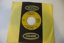 BOB LUMAN 45T PROMO A CHAIN DON'T TAKE TO ME/DON'T LET LOVE PASS YOU BY. EPIC US