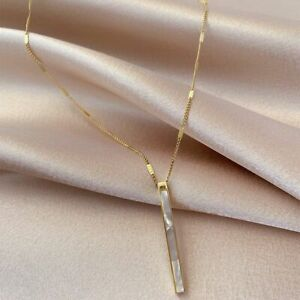 Korea Shell Titanium Steel Necklace Fashionable Clavicle Chain Womens Jewelry