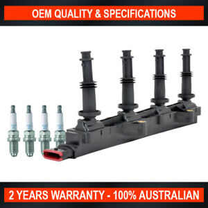 Swan Ignition Coil Pack & NGK Spark Plugs for Holden Astra AH SRi Twintop 2.2L