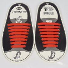 Fácil Sin Atar Elástico Cordón de Zapato 100% Silicona Zapatillas Zapatos Adultos Niños Cordones