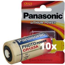 """10x CR123A CR123 Lithium Foto-Batterie von PANASONIC"