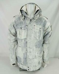 Oakley Thinsulate Insulated Hooded Winter Ski Coat White/Gray Men's Large
