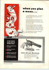 1955 PAPER AD Revell Colt .45 Cal Revolver Peacemaker Wild Bill Hickok Model
