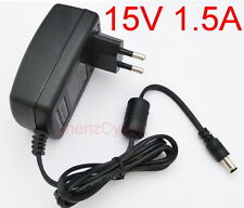 AC Converter Adapter DC 15V 1.5A Power Supply Charger EU plug DC 5.5mm 1500mA