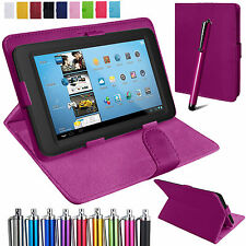 Universal Leather Case For All 7 Inch Tablets Stand Folding Folio Cover