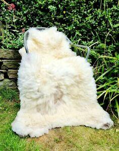 XXXXL HUGE British Brown and Cream Sheepskin Rug - 145cm by 85cm A+++ (1456)