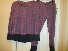 JOSIE by Natori Henley Pajamas Size XL 14-16 - Excellent