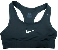 New Nike Sport Compression Bra Black Med Support Crossfit Gym Run Womens Sz XS
