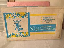 Welsh Vtg 1950's Little Mom Baby Doll Stroller New Old Stock!
