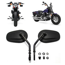 BLACK MOTORBIKE MOTORCYCLE REAR VIEW MIRRORS CNC ALUMINIUM FOR Harley