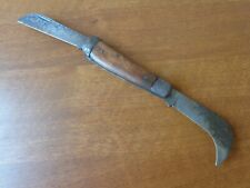 VTG RARE FRENCH ELECTRICIAN TOOL HAWKBILL FOLDING TWO BLADES POCKET KNIFE MARKED