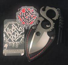 Koch Tools D2 Tool Steel Stonewashed Solo Knife EDC Multi Tool & Leather Sheath