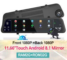 "11.66"" HD Car Rearview Mirror DVR ADAS Android 8.1 Quad-core 2+32GB w/ Camera"