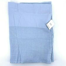 Restoration Hardware Garment Dyed Linen Sky Blue Twin Bed Skirt Bedskirt