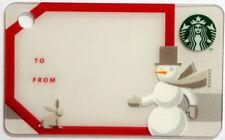 STARBUCKS - GIFT TAG KEY CARD - Gift Card Collectible 2011 NO Value RARE !!!